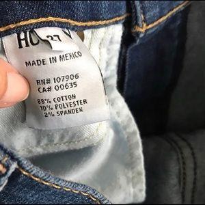 Hudson Jeans Pants - Hudson nico mid- rise distressed skinny jeans